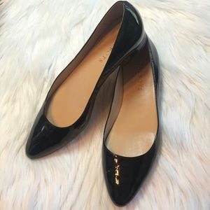 Talbots Black patent leather flats, Size 7.5